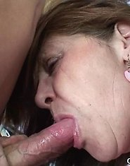 The guys come in because she has jobs for them but they end up fucking her mature pussy
